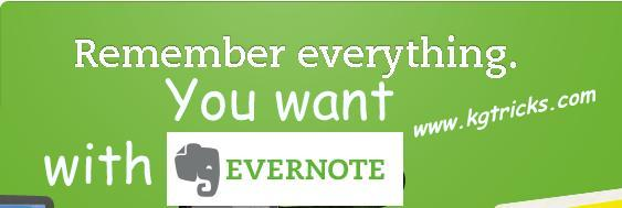 Evernote Application to remember everything