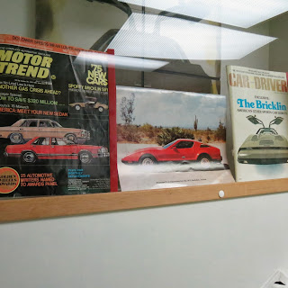 wall of memorabilia devoted to the Brickland