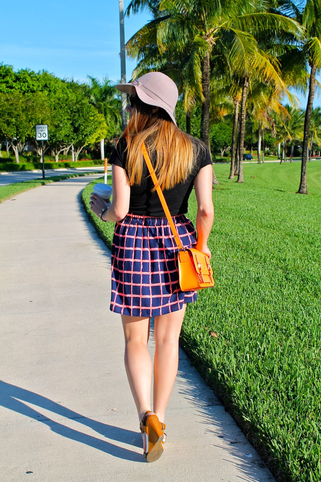 winter hats, felt hats, Miami fashion blogger, mini skirts, skater skirts, wedges, BCBGeneration, Nordstrom, Ray-Ban wayfarers, Kenneth Cole, Franchesca's, Kate Spade