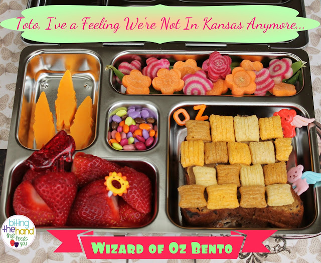 wizard of oz bento school lunch yellow brick road food ruby slippers munchkins