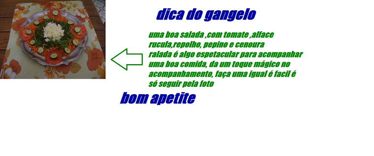 DICAS DO GANGELO