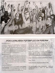 """ACERCA DEL EVENTO """"¡PIDO LA PALABRA EN PEREIRA!"""