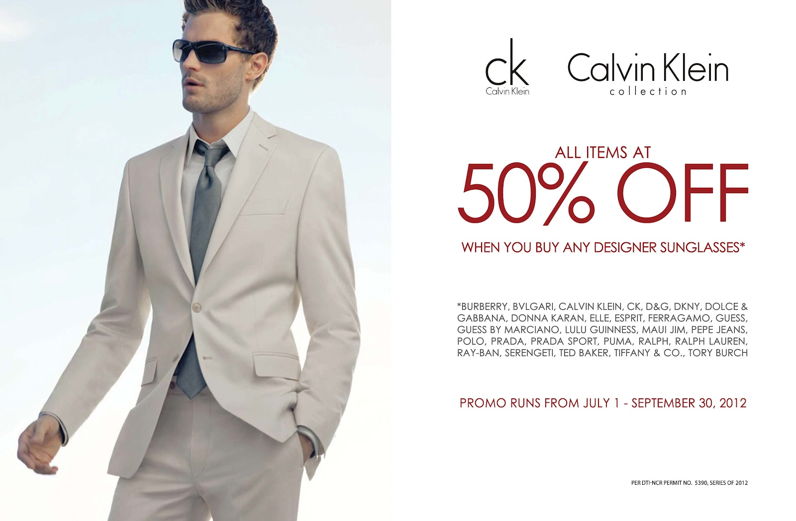 Calvin klein discount coupon
