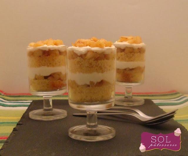 Naked cake aux pommes caramélises - Naked cake de maçãs caramelisadas