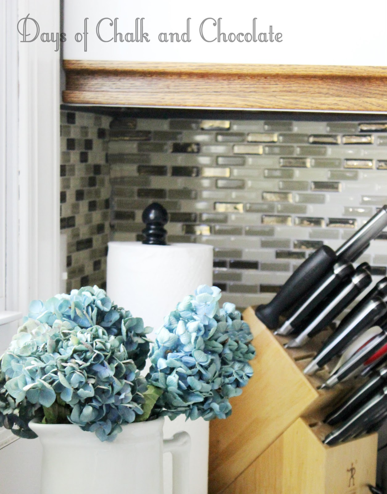 Easy DIY Self-Adhesive Faux Tile Backsplash | Days of Chalk and ...