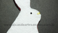 DIY bunny rabbit for easter in felt
