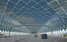 კალიფორნიაში ავტომაგისტრალებს მზის ენერგიის მისაღებად გამოიყენებენ