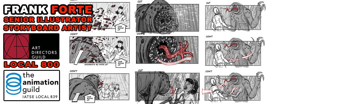 Frank Forte Film Storyboards
