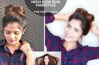 1 Min High Bow Bun Hairstyle For Summer (Without Combing)