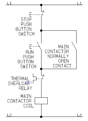 flowchart guide for the control circuit of a direct on