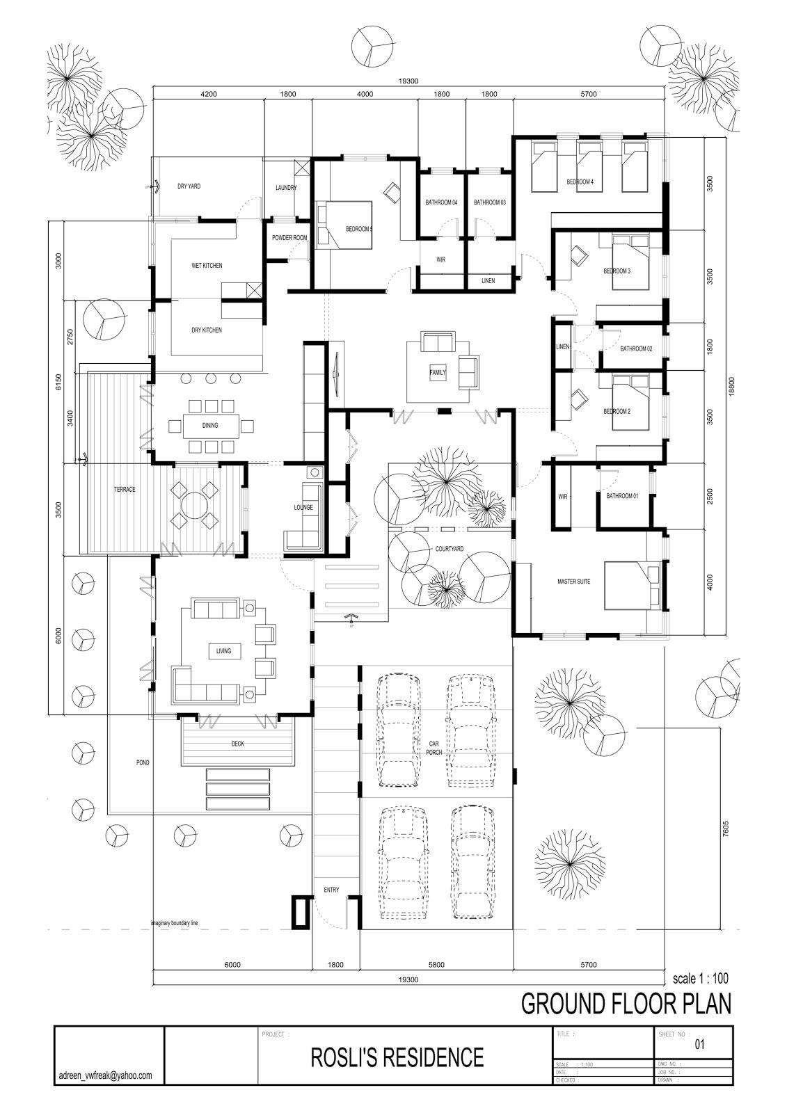 Syazariah rumahku syurgaku for Plan arkitek