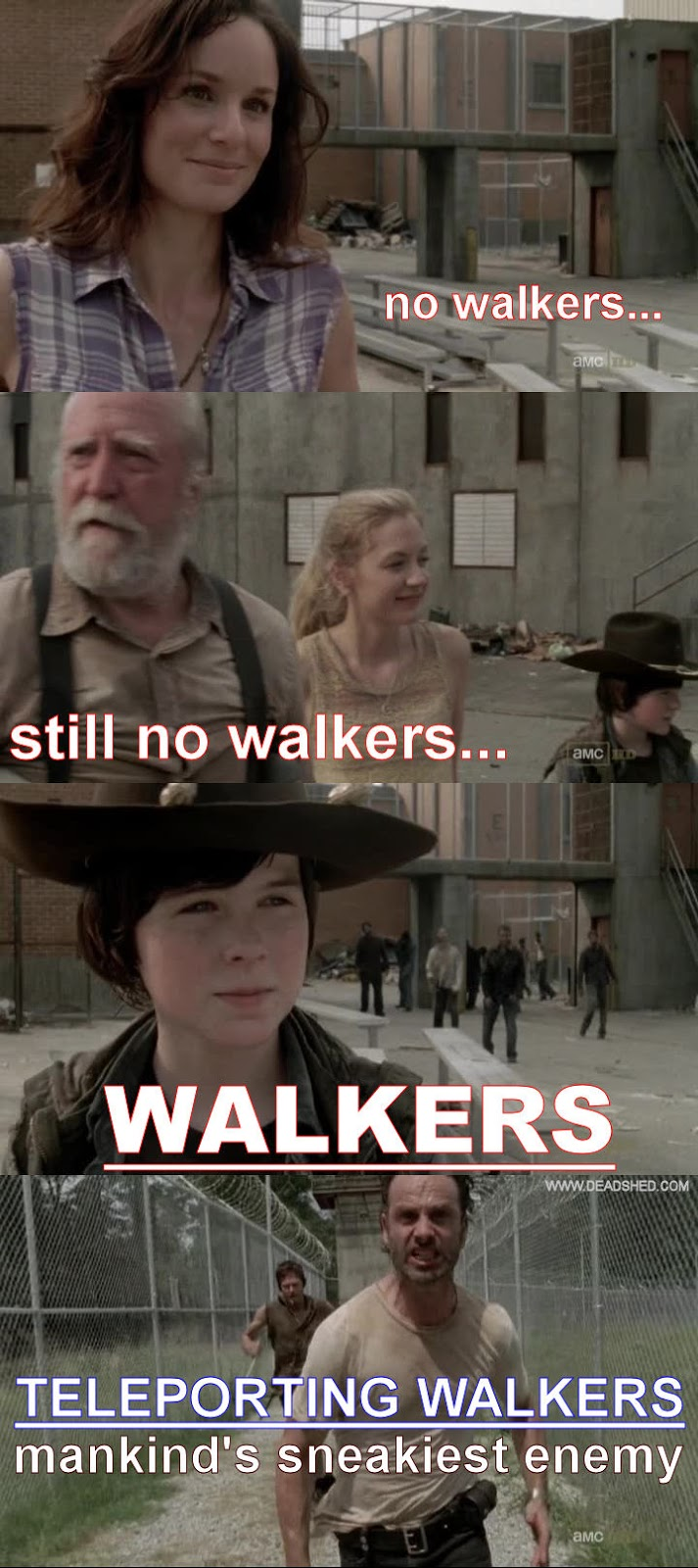Amorous activity you follow me the walking dead 3x04 memes