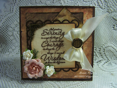 "Our Daily Bread designs ""Serenity Prayer"" Customer Card of the Day Brenda Kluge"