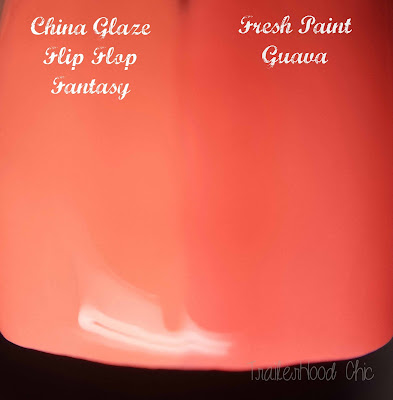 china glaze poolside flip flop fantasy review swatches fresh paint guava