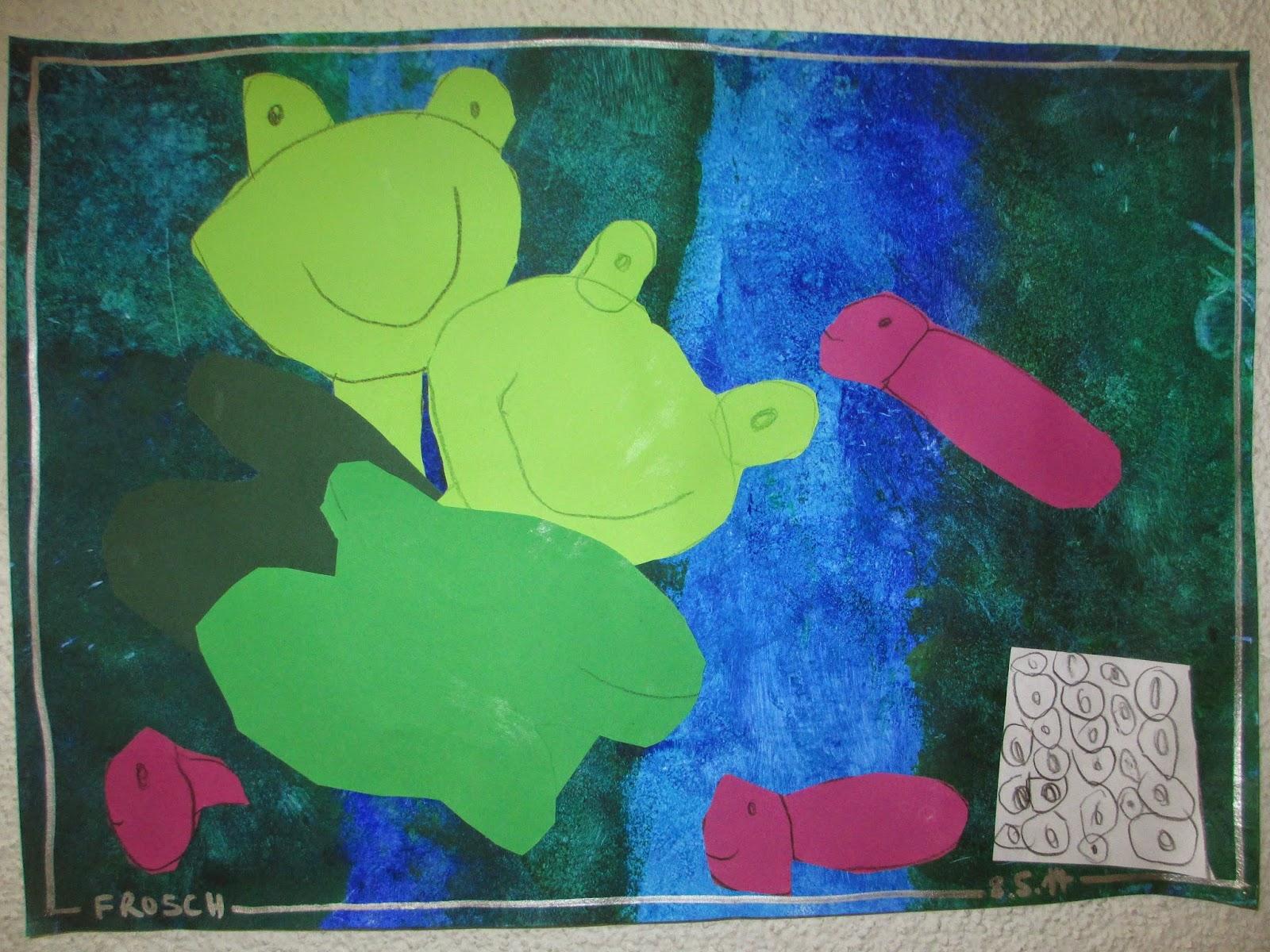 Frösche zeichnen malen mit Kindern