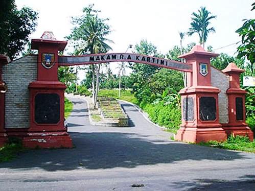 Gambar gapuro makam RA Kartini di Bulu Mantingan Kabupaten Rembang