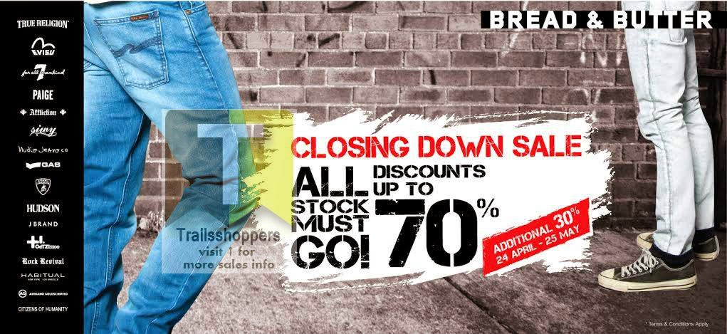 Bread n Butter Jeans Closing Down Sale