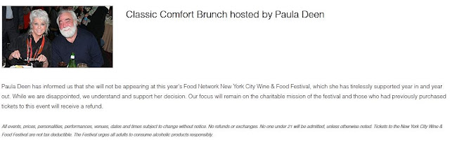 Paula Deen Brunch Cancelled