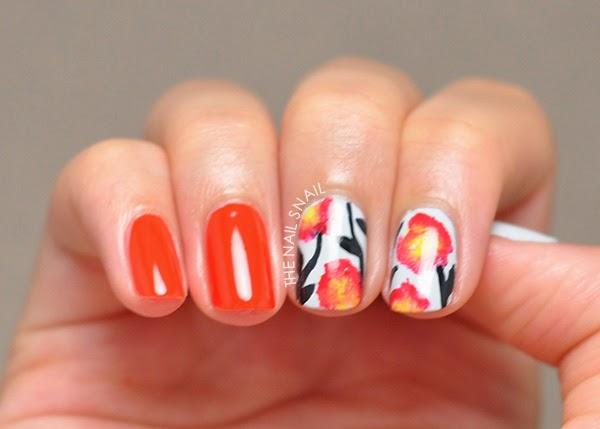 gladiolus nail art
