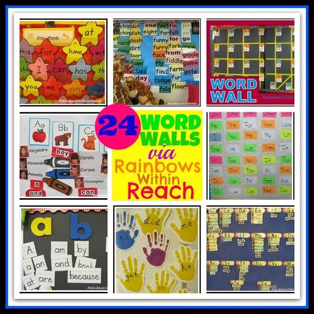 24 Sight Word Walls from Elementary School via RainbowsWithinReach