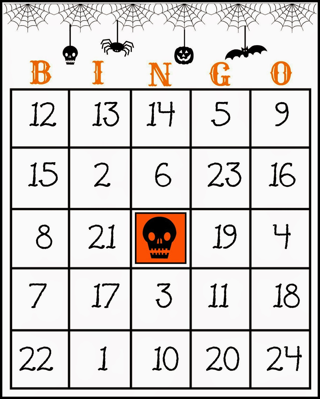 crafty in crosby free printable halloween bingo game - Free Printable Halloween Bingo Game Cards