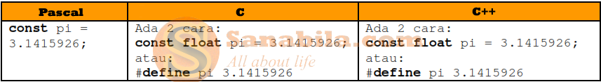 Perbedaan Bahasa Pemrograman Pascal, C, dan C++ dari Segi Konstantanya