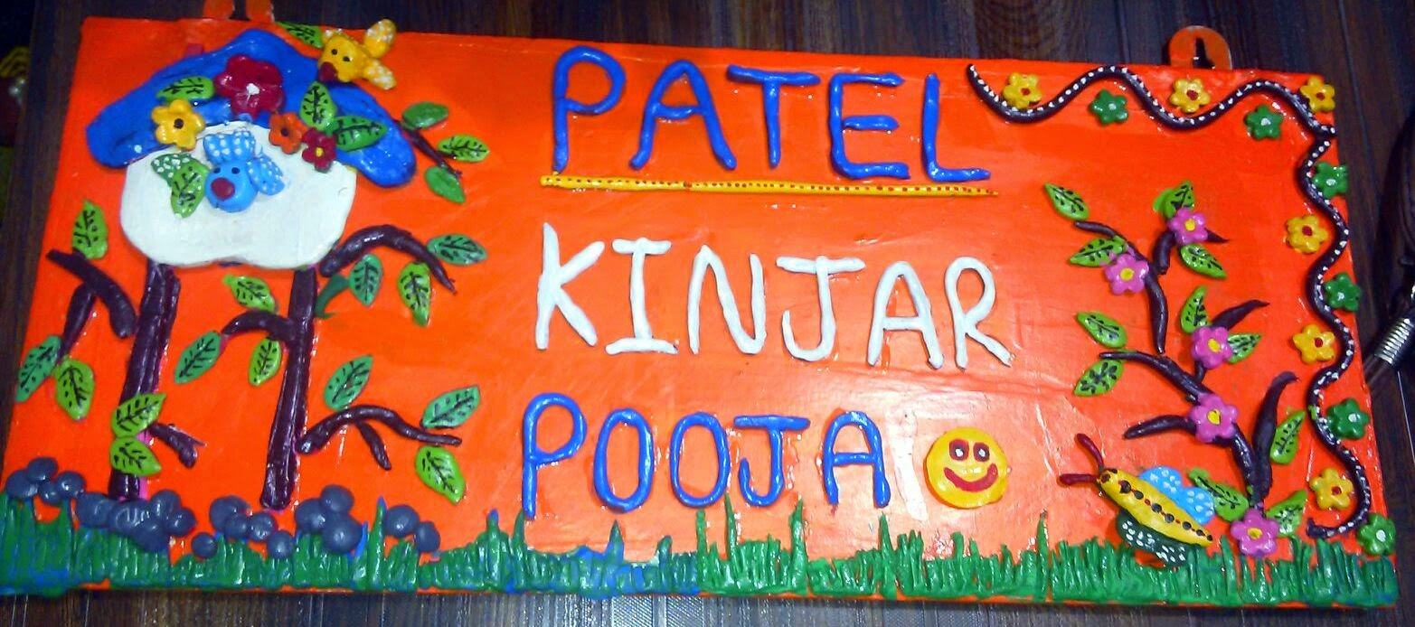 Crafts and Creatives handmade name plate