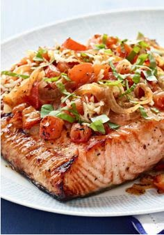 Grilled Salmon Bruschetta
