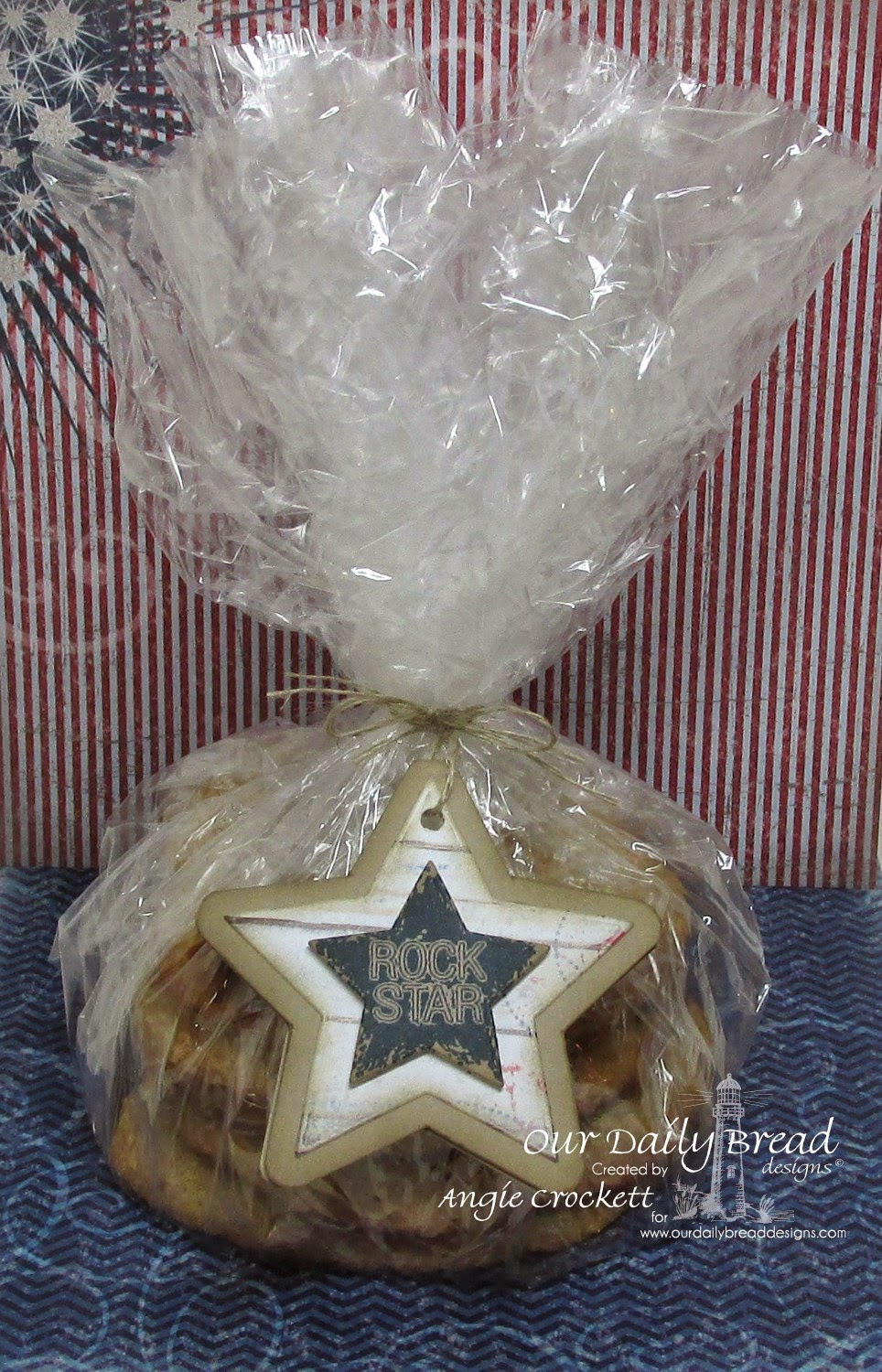 ODBD Custom Sparkling Stars Dies, ODBD Patriotic Paper Collection, ODBD Rock Star, Card Designer Angie Crockett