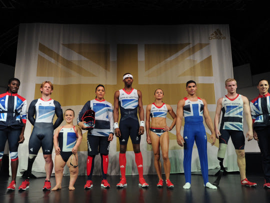 Great Britain uniform for london olympic