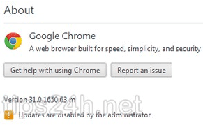 Sửa lỗi updates are disabled by the administrator trên Google Chrome