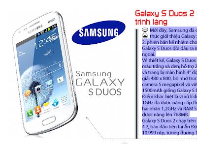 Điện thoại Samsung Galaxy S Dous