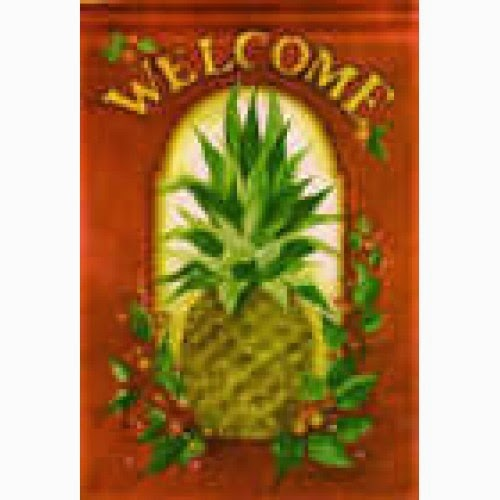winter holiday pineapple house flag