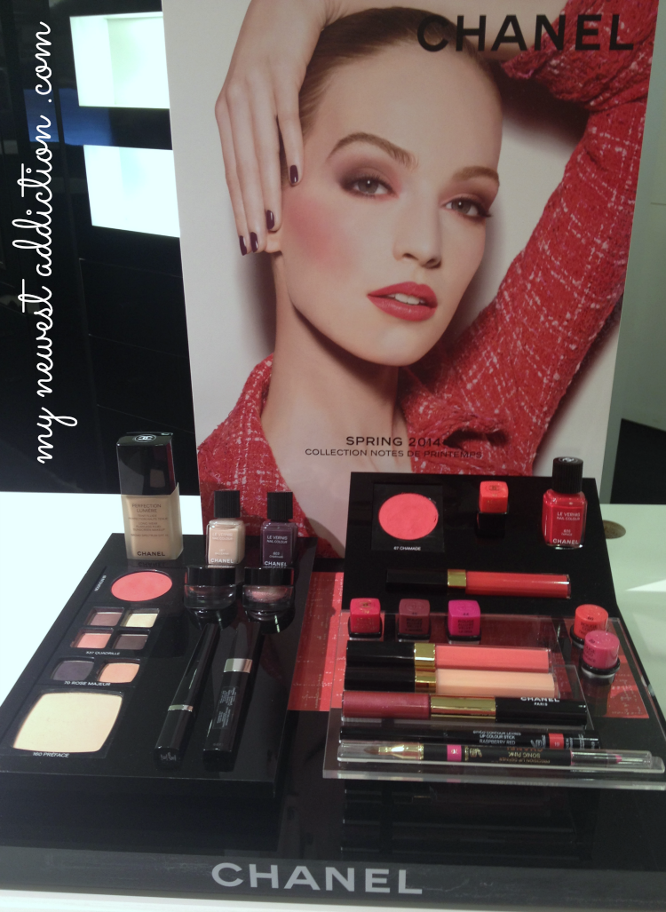 Chanel Spring 2014 makeup cosmetics beauty red pink lipstick blush nail polish