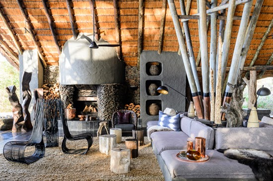 Safari Fusion blog | Sticks & stones | Organic archiecture and interior design at Singita Boulders Lodge, Kruger South Africa