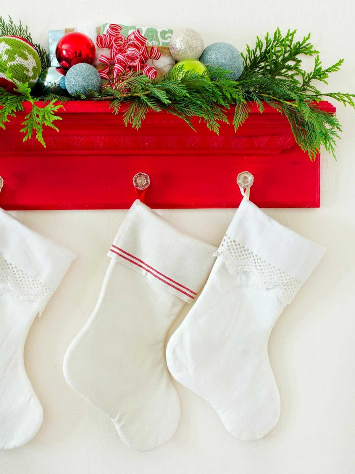 inside the brick house cheap and easy christmas stocking holders