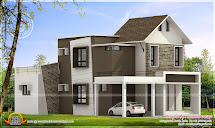 260 Square Yard House Exterior - Kerala Home Design And