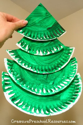 http://creativepreschoolresources.com/2012/12/06/3-d-christmas-trees/