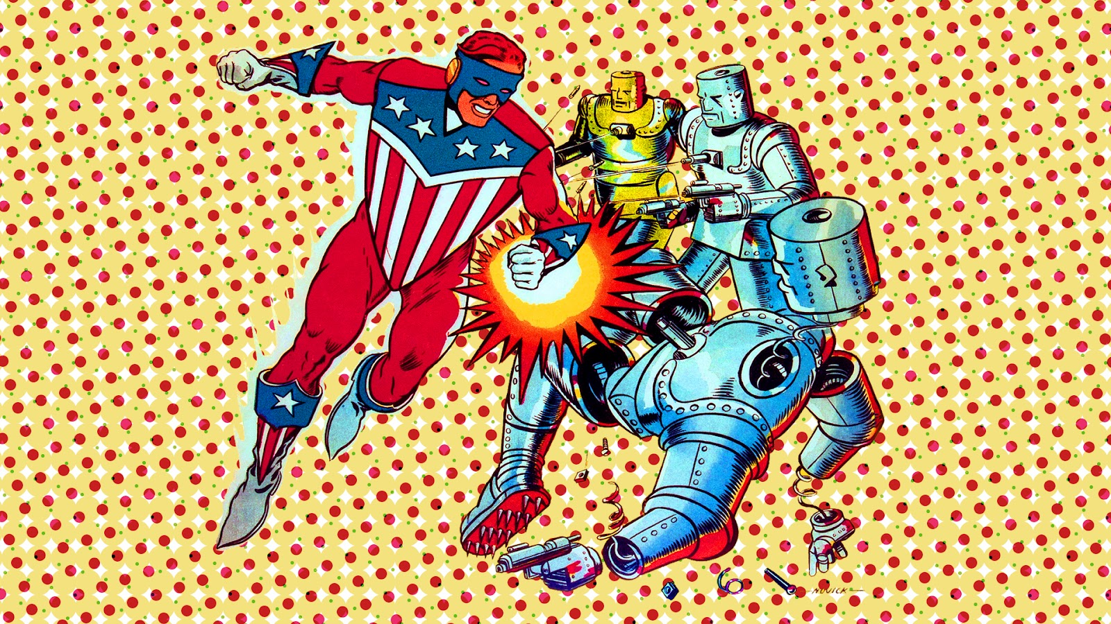 Neato Coolville: DESKTOP WALLPAPER: COMIC BOOK SUPERHEROES ... Vintage Comic Book Background