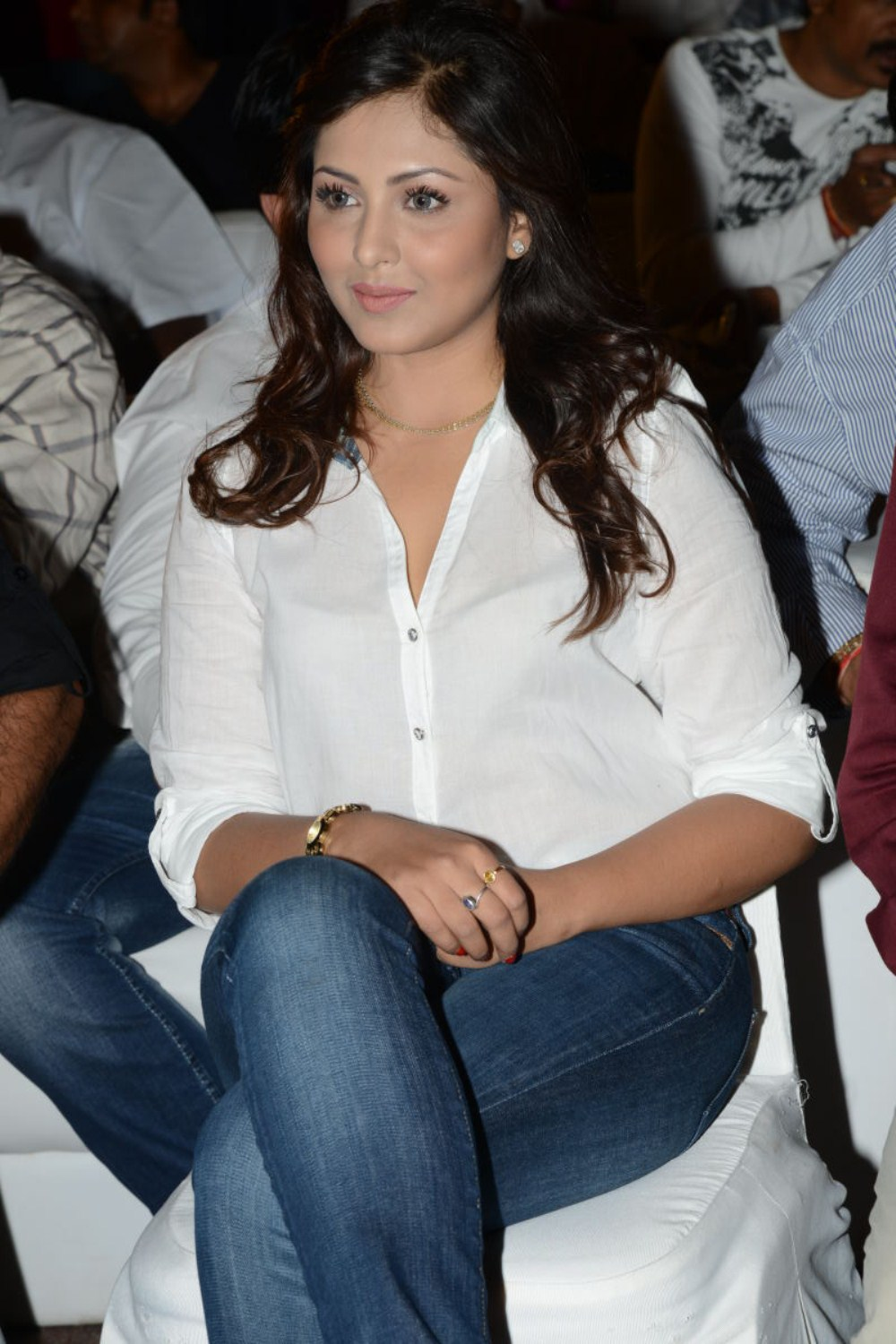 Madhu Shalini Pictures in Jeans at Kevvu Keka Telugu Movie Audio Launch  0023.jpg