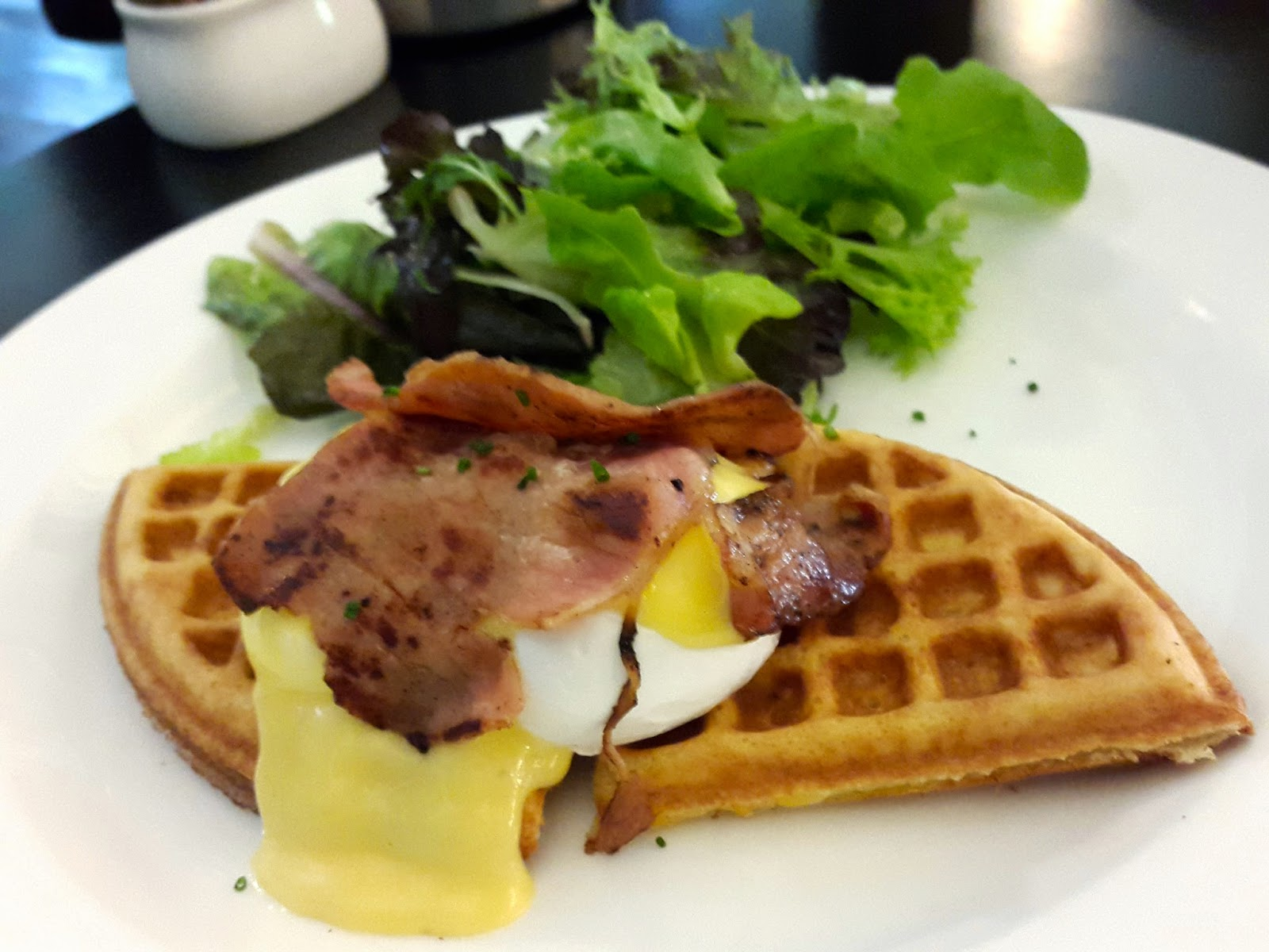 Egg benedicts waffle Spruce Tanglin Singapore