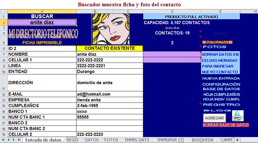 formato directorio telefonico en excel - Yeni.mescale.co