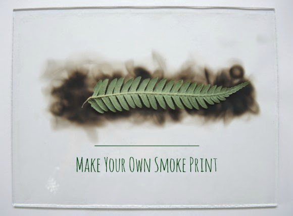 katiecrackernuts.blogspot.com || smoke prints with ferns laying the fern