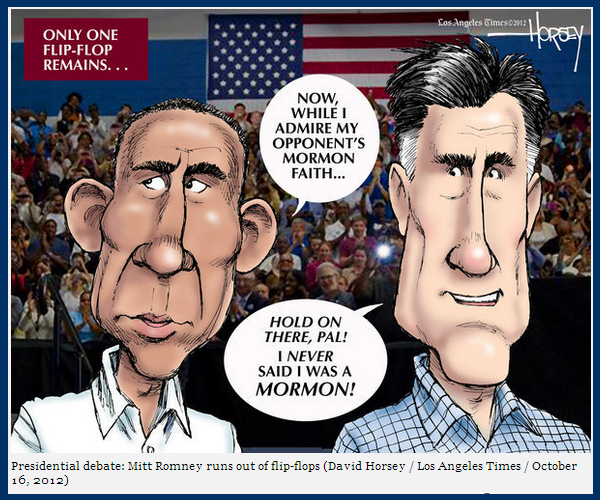 David Horsey political cartoon romney obama LA Times
