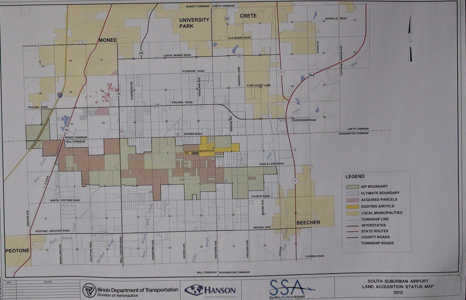 Illinois will county peotone - Illinois Department Of Transportation South Suburban Land Acquisition Status Map 2012
