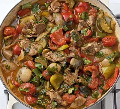 Mediterranean Vegetables With Lamb Recipe
