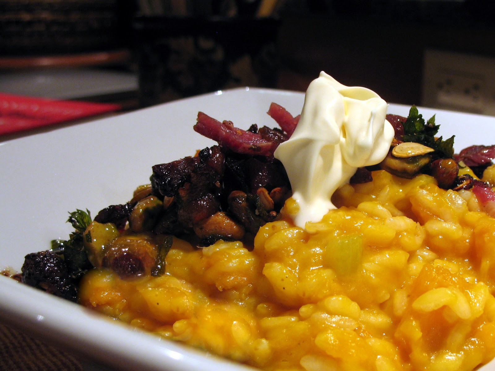 gimme the knife!: Butternut Risotto with Pistachio, Sage, Celery and ...