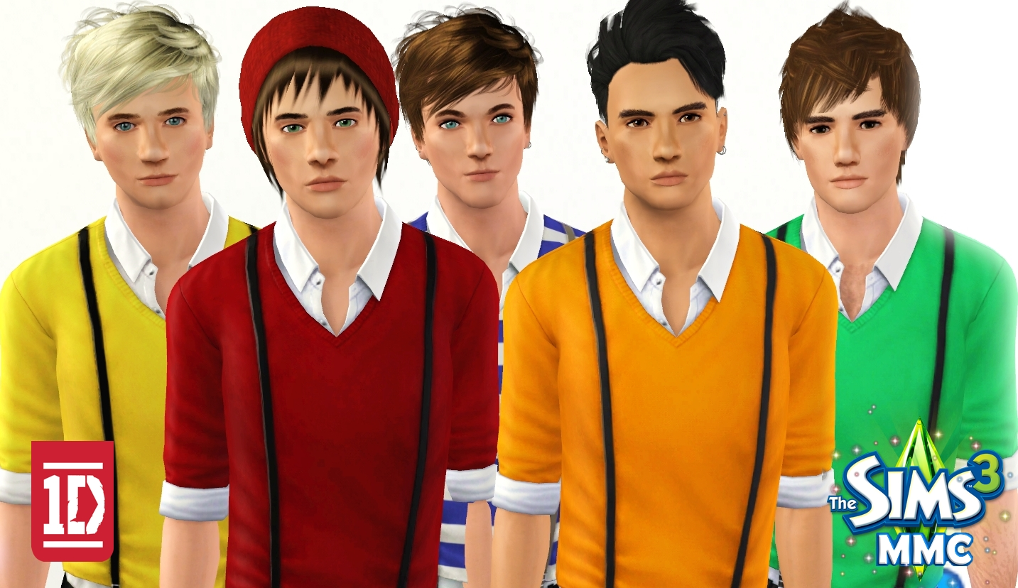 One direction sims game sims 3 male models and celebrities one