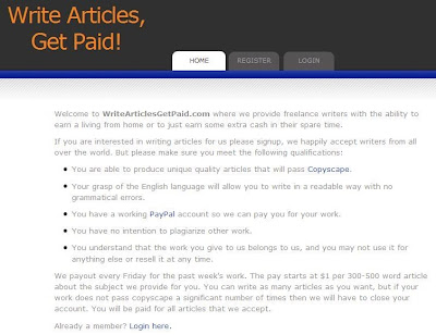 WriteArticlesGetPaid com Review