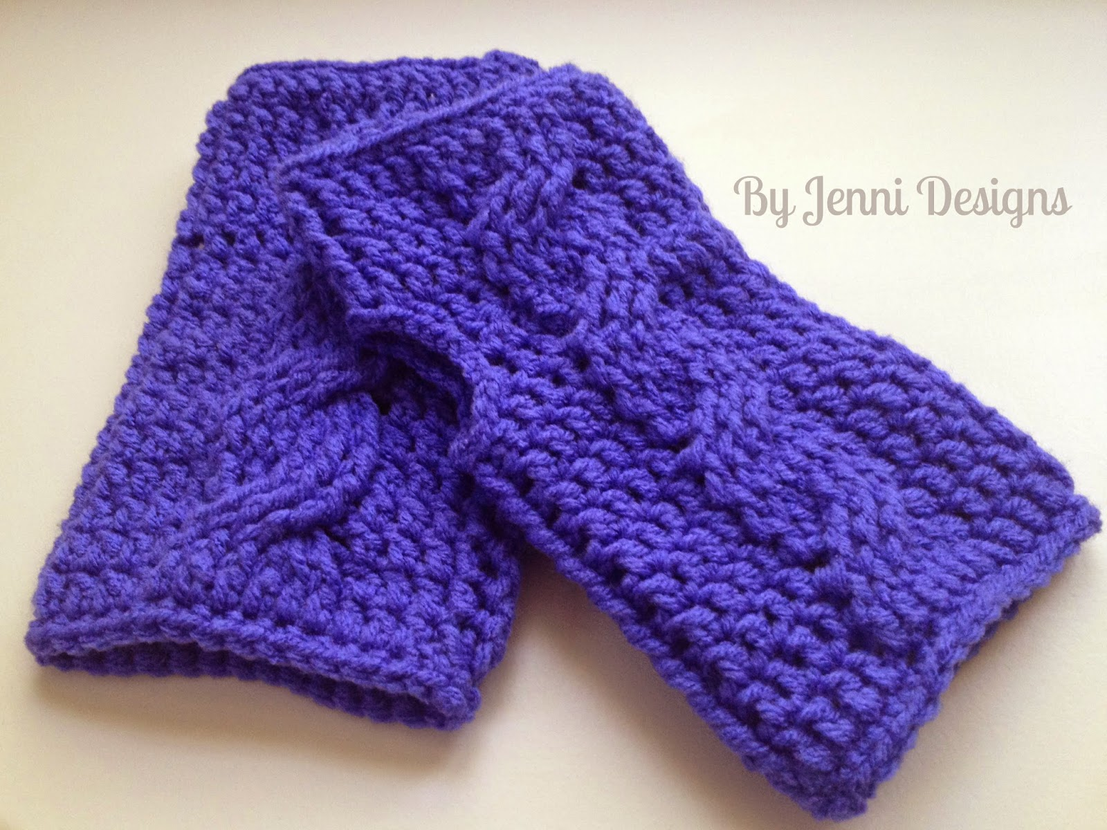 Double Crochet Fingerless Gloves Free Pattern : DOWNLOAD THE PDF FILE HERE: Cable Fingerless Gloves